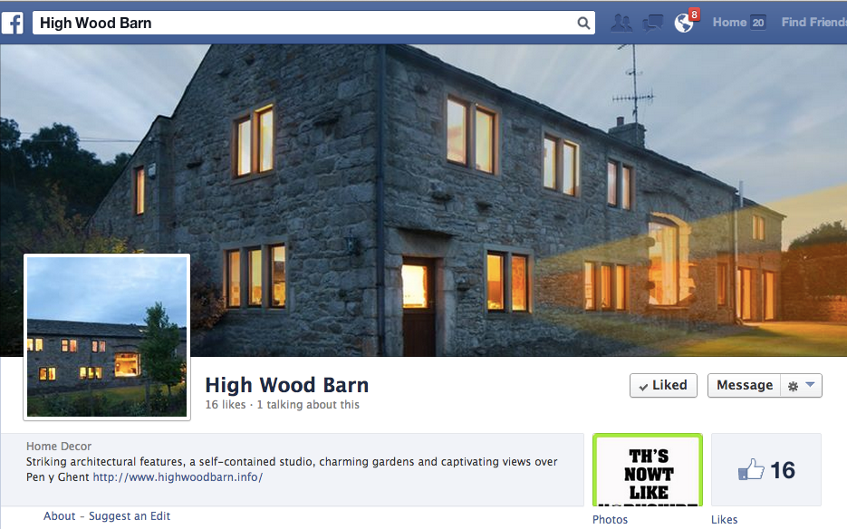 High Wood Barn on Facebook
