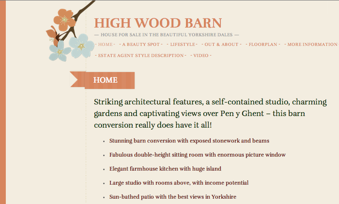 High Wood Barn microsite