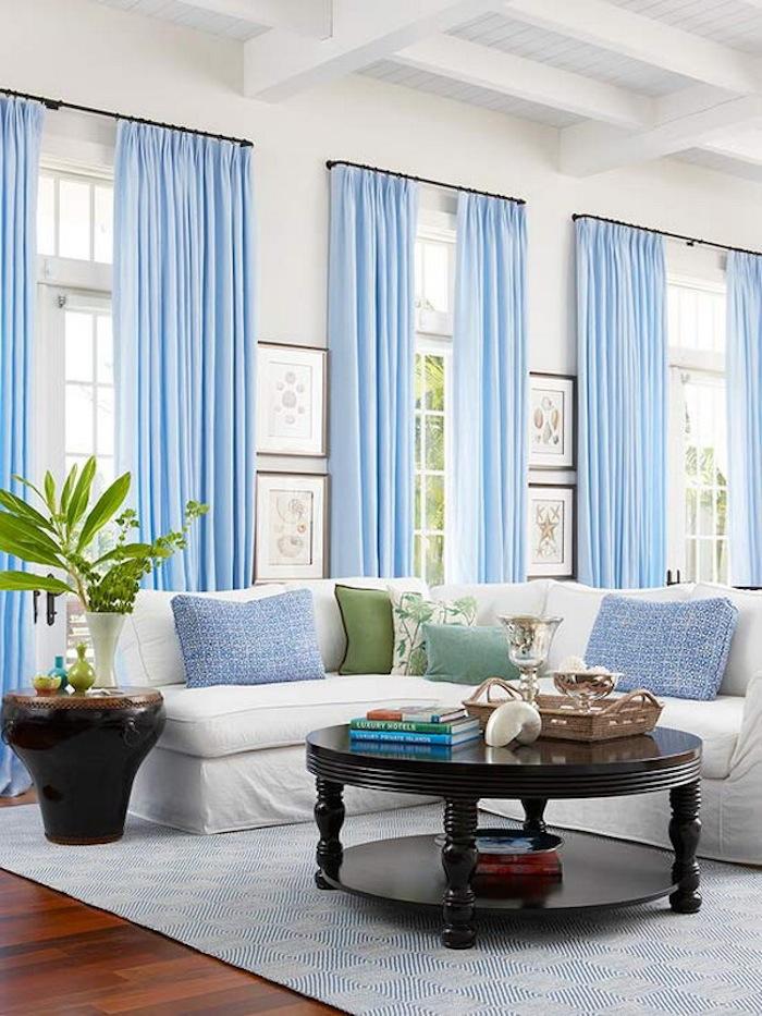 Light and airy blue modern living room Sam Ashdown HomeTruths blog