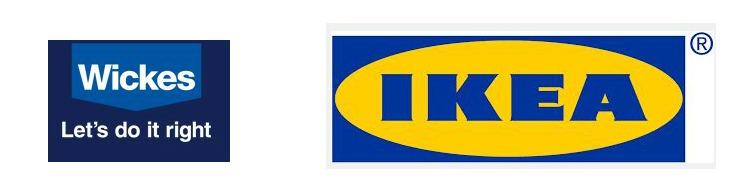 Wickes and IKEA logo