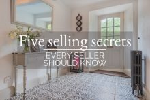 Hallway with side table flowers and mirror Five selling secrets every seller should know